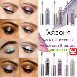 12 colors Eyeshadow Liquid Waterproof Glitter Eyeliner Shimm