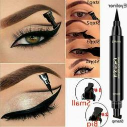 Black Waterproof Liquid Eyeliner Pencil Long Lasting Stamp E