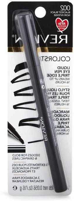 Revlon Colorstay Liquid Eye Pen Triple Edge Blackest Black 0