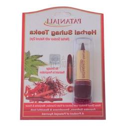 Patanjali Herbal Suhag Teeka Sindoor Vermillion 3gm for Beau