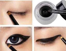 HOT! Waterproof Eye Liner Eyeliner Gel Makeup Cosmetic + Bru