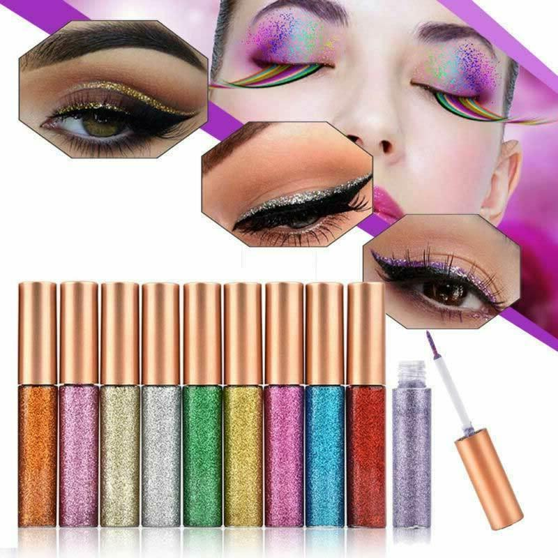 10 GLITTER Eyeshadow Liquid Shimmer Metallic