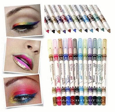 12 Lip EyeLiner Pencil Pen Set