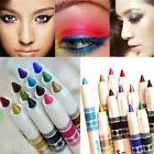 12 Colors Cosmetic Glitter Eye Shadow Lip Liner Eyeliner Pen