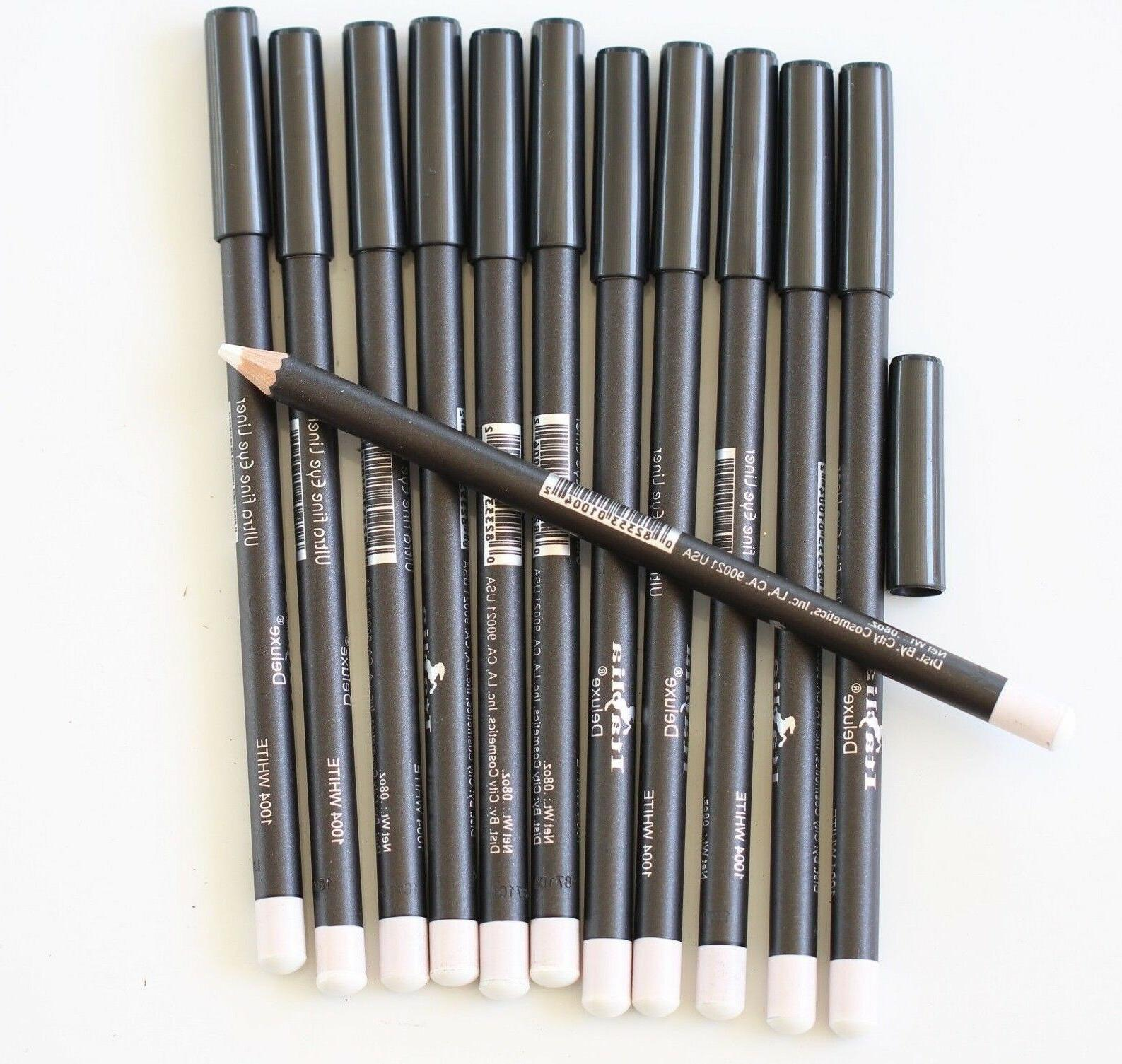 12 pcs 1004 WHITE Italia Deluxe Ultra Fine Eye Liner Pencil