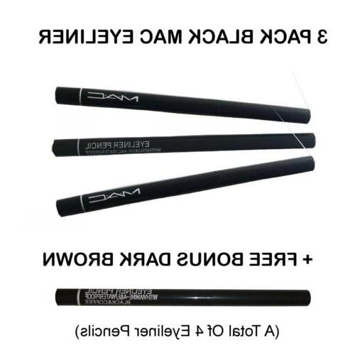4 pack mac eyeliner waterproof pencil black