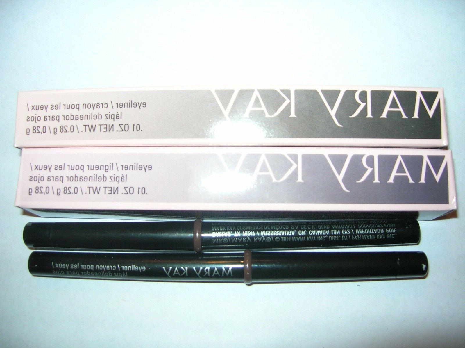 Lot of 2 Mary Kay MK DEEP BROWN Eye Liner PENCIL NIB Ships F