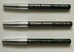 Lot of 3 L.A. COLORS EYE LINER BROW PENCILS: 2 Black, 1 DARK