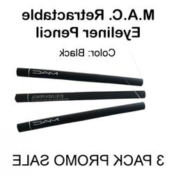 MAC Eyeliner Pencil Black 3 PACK - M.A.C. Waterproof Retract