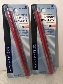 Maybelline Expert Wear brow and Eye liner Pencil Velvet Blac